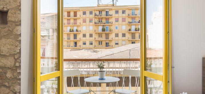 monolocale con balcone
