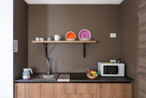 cucina bilocale deluxe con jacuzzi