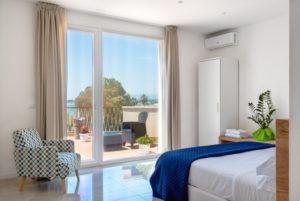 camera da letto con vista bilocale deluxe
