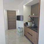cucina monolocale deluxe con terrazza