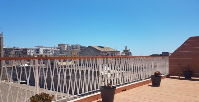 vista dal monolocale deluxe con terrazza